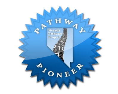I created the official seal and badge for the Nevada Pathway Project, to be displayed on those school websites that were participating in the statewide project.